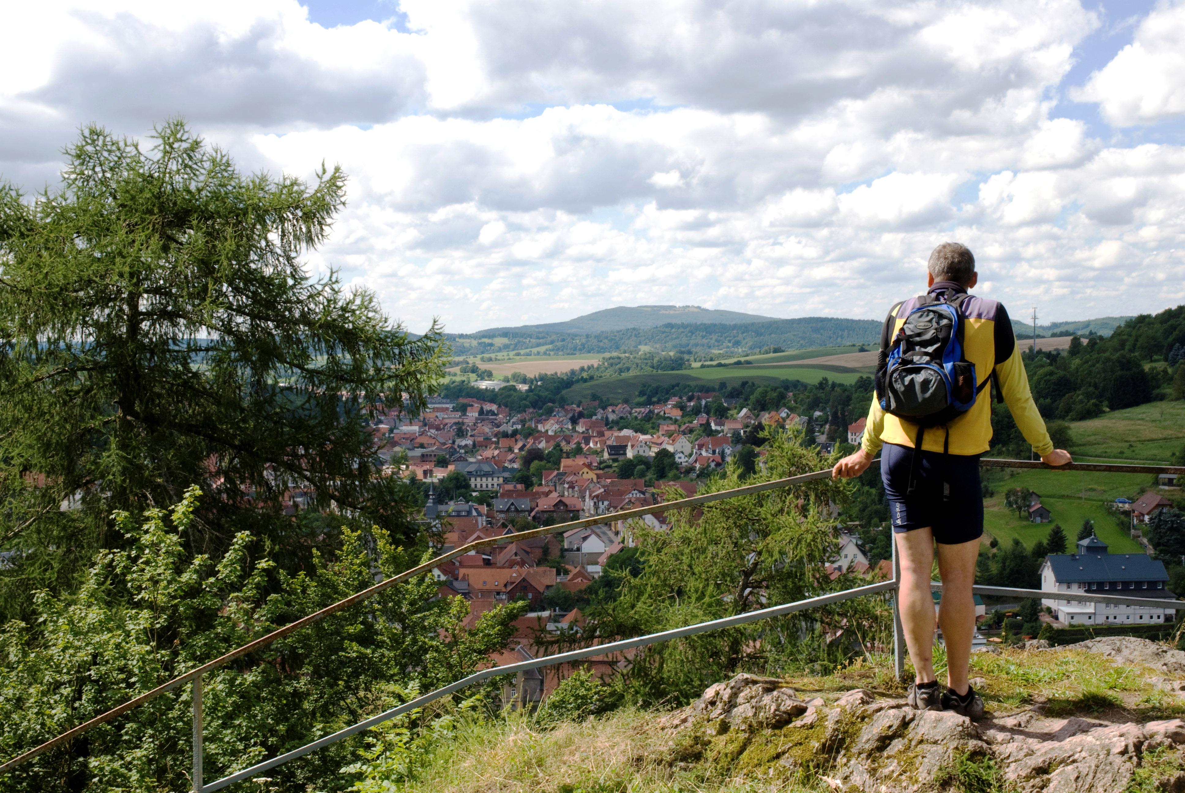 Bild: Panoramablick von der Hallenburg bei Steinbach Hallenberg