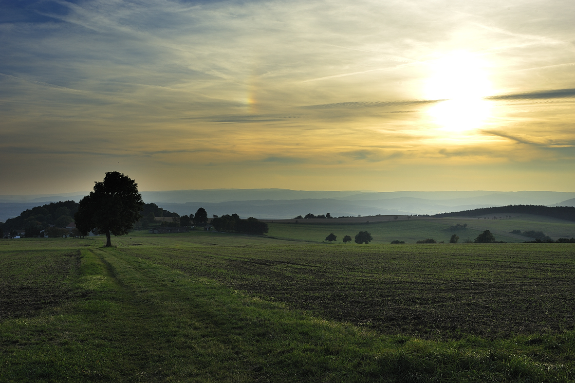 Bild: Geba mit Sonnenuntergang