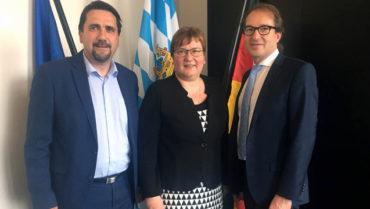 BVWP: Iris Gleicke & Land- rat bei Verkehrsminister