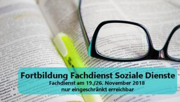 Eingeschränkte Erreichbarkeit FD Soziale Dienste