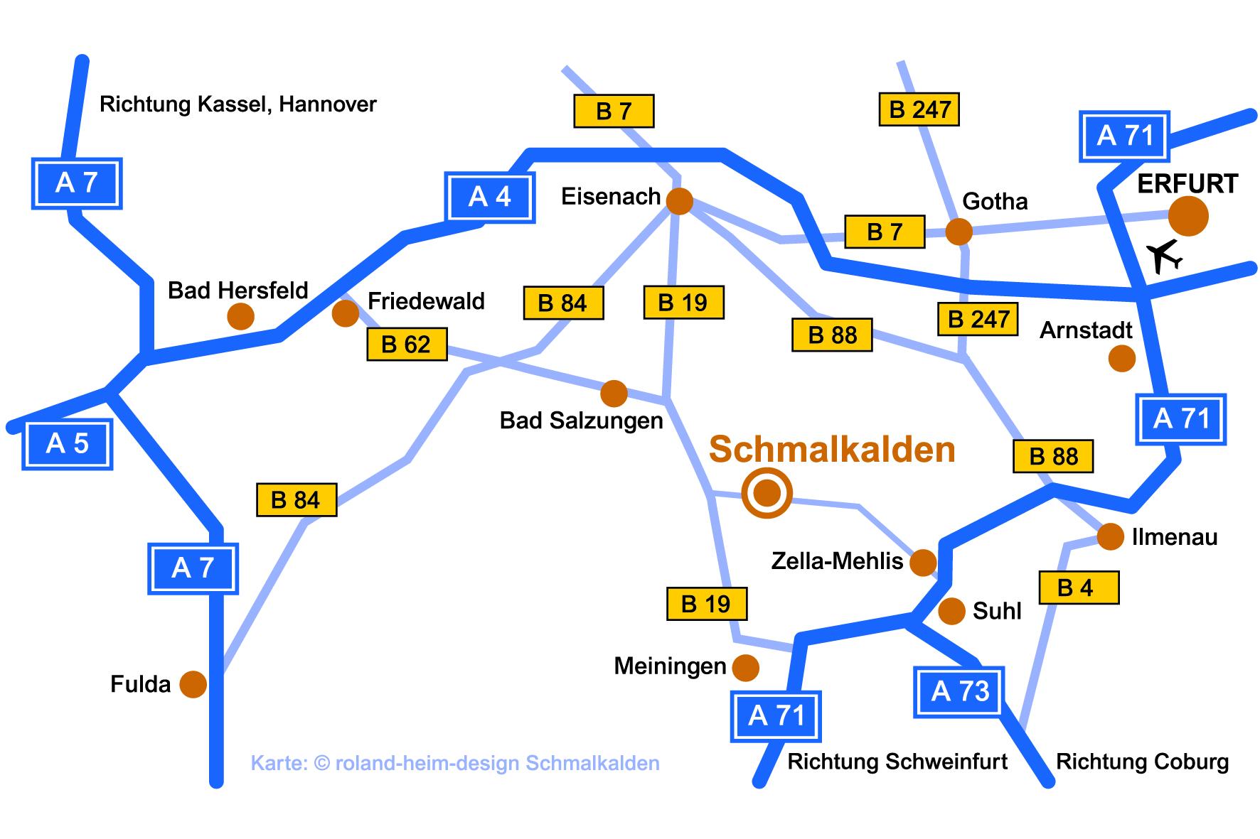 Karte TGF Schmalkalden