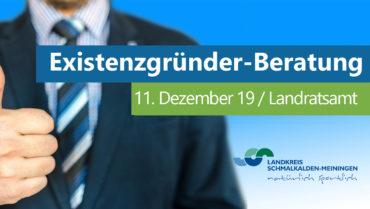 Für Existenzgründer: Sprechtag am 11.12.2019