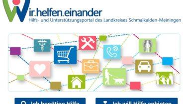 """Landkreis startet Hilfs- und Unterstützungportal """"Wir.helfen.einander"""""""