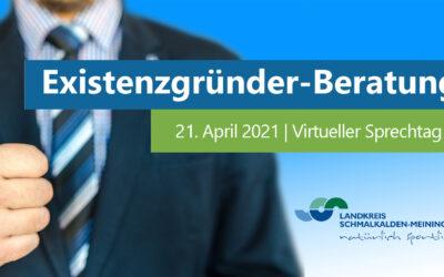Digitaler Existenzgründer-Sprechtag am 21. April 2021
